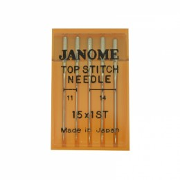 15x1ST Assorted Top Stitch Sewing Machine Needles