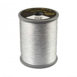 Embroidery Metallic Thread Silver Grey 996